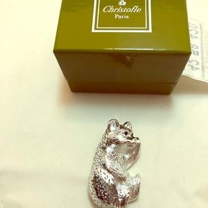 Christofle Baby Bear Figurine!